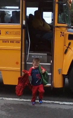 Levi's first day of school